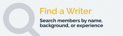Find a Writer - Search members by name or attribute